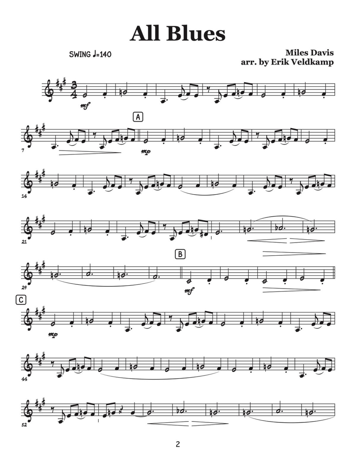 Veldkamp, Swinging Trumpet Quartets Vol.3 (Trumpet 2)-p04