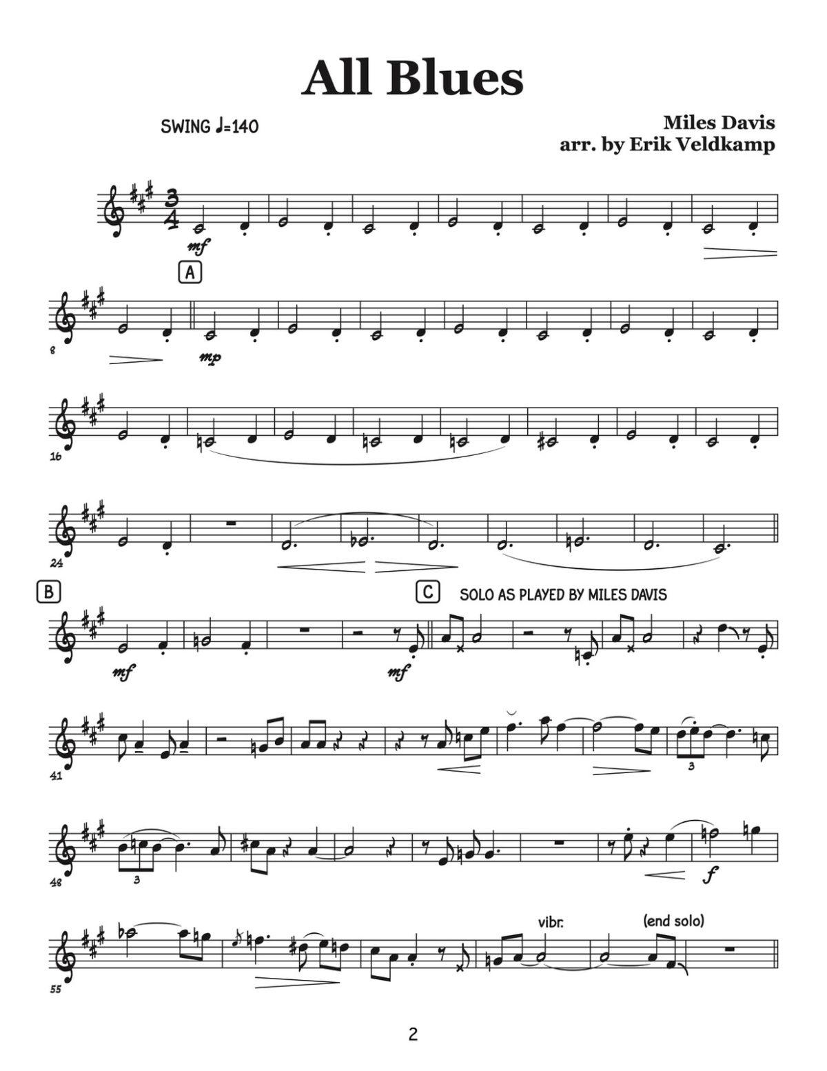 Veldkamp, Swinging Trumpet Quartets Vol.3 (Trumpet 3)-p04