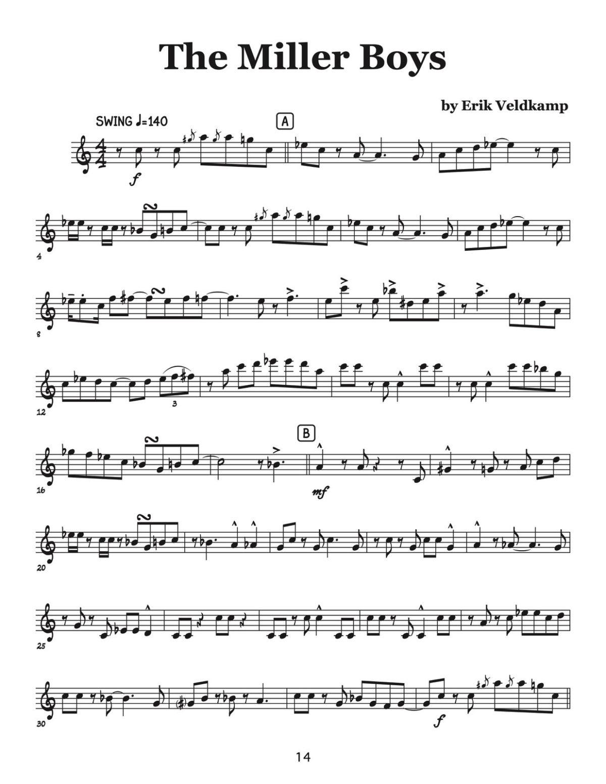 Veldkamp, Swinging Trumpet Quartets Vol.4 (Trumpet 1)-p16