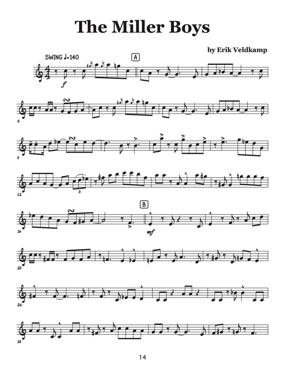 Veldkamp, Swinging Trumpet Quartets Vol.4 (Trumpet 2)-p16