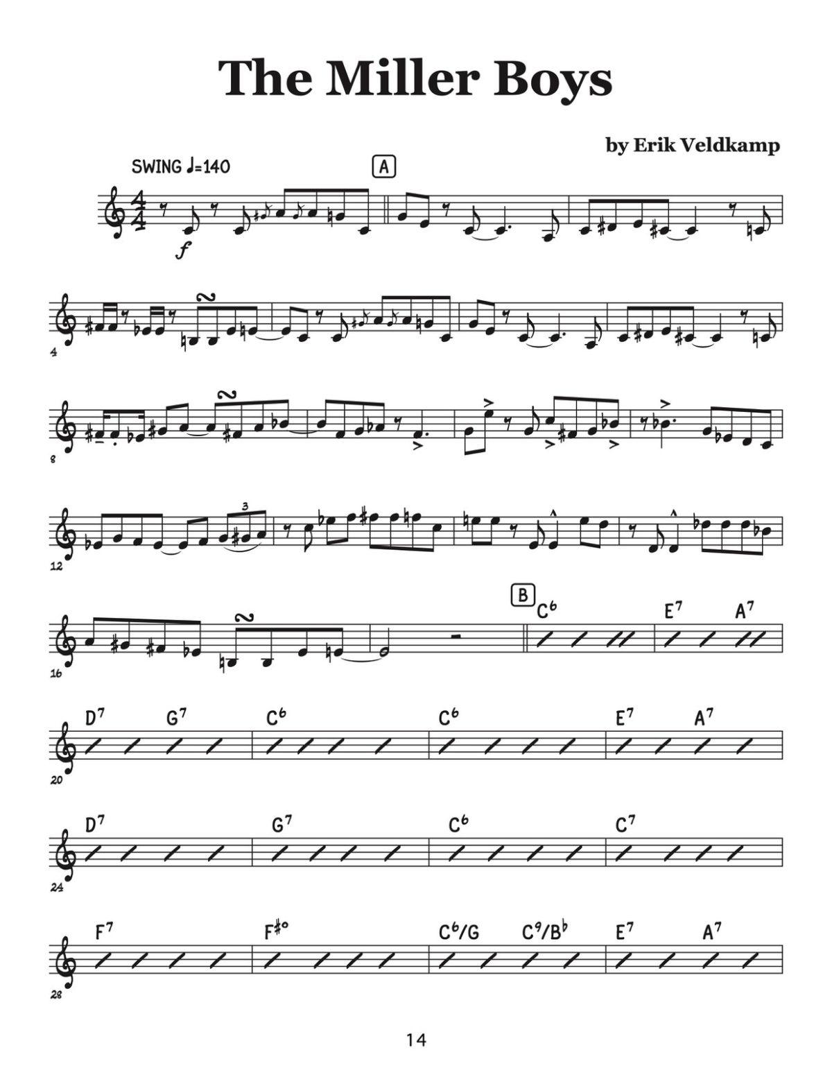 Veldkamp, Swinging Trumpet Quartets Vol.4 (Trumpet 4)-p16
