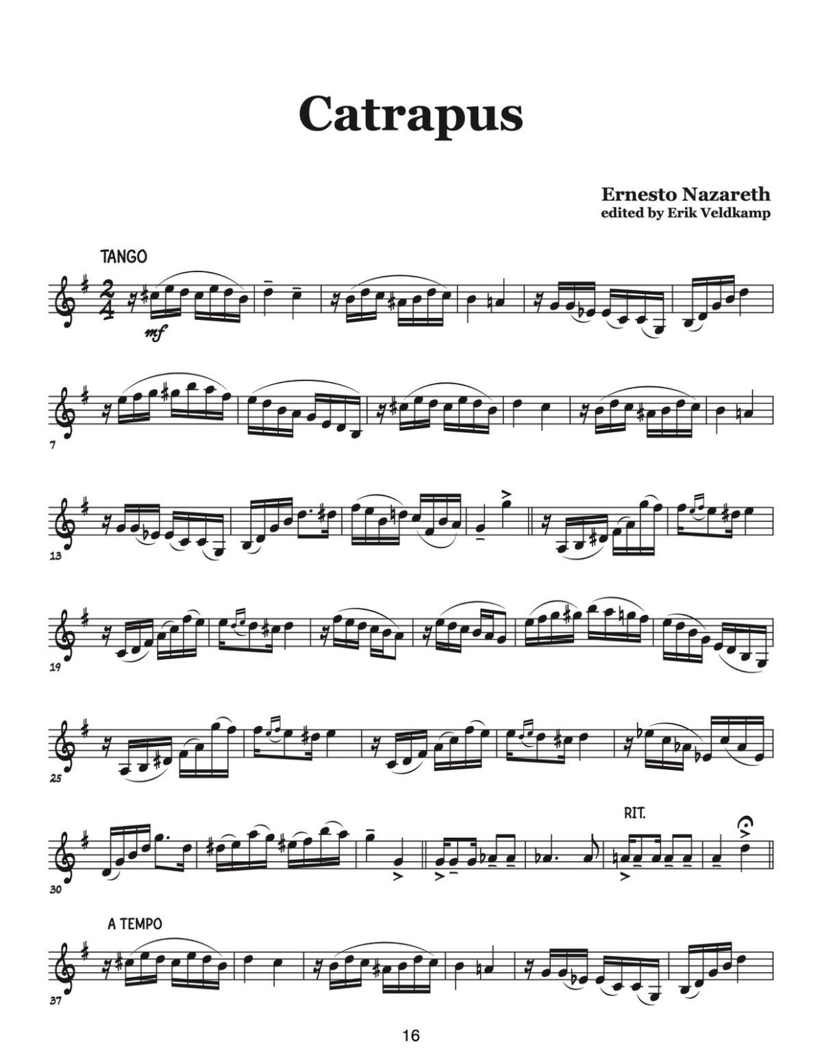 Veldkamp-Nazareth, 15 Brazilian Tangos & Polkas for Trumpet-p16