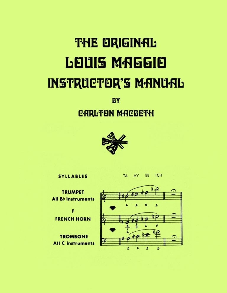 The Original Louis Maggio Instructor's Manual