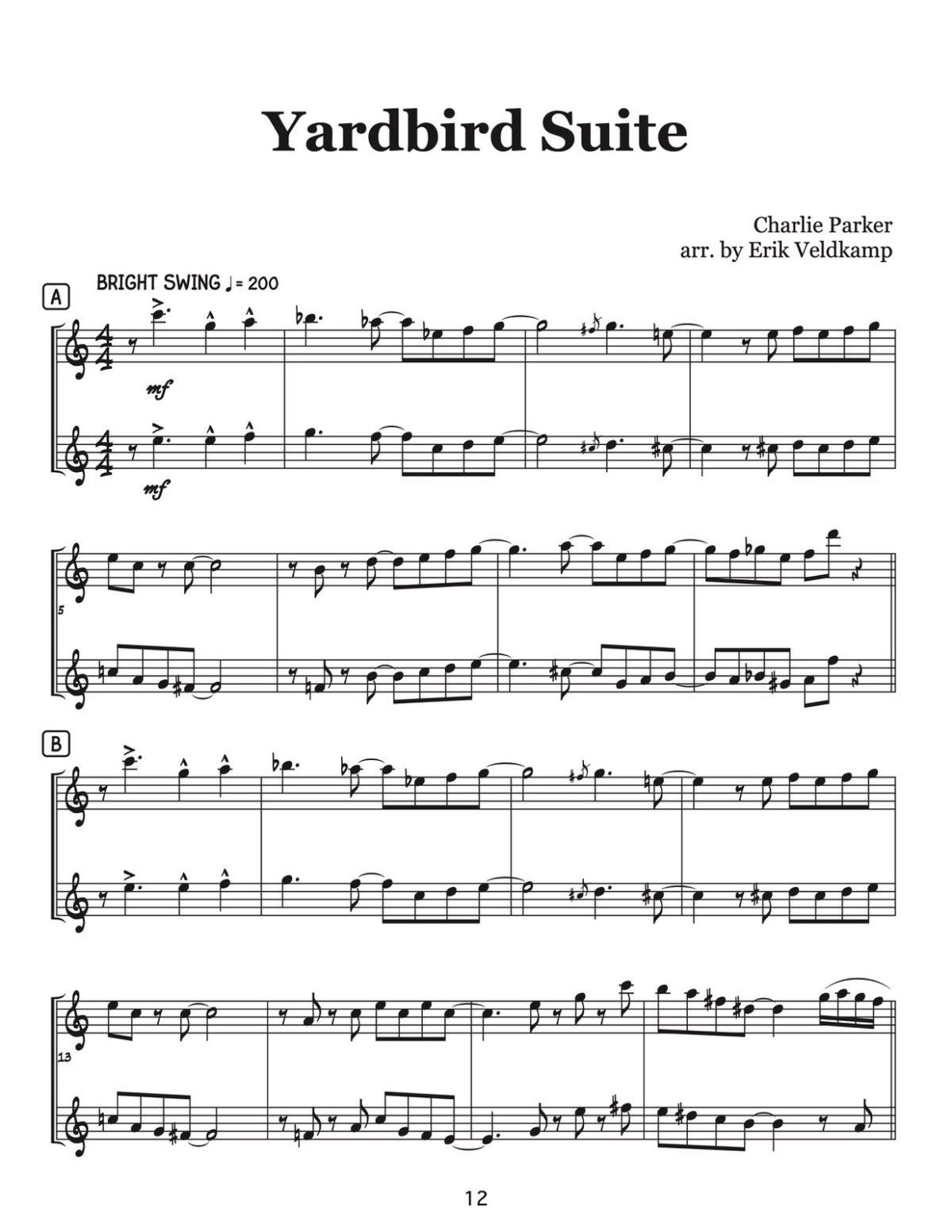 Veldkamp, 16 Swinging High Note Duets-p12