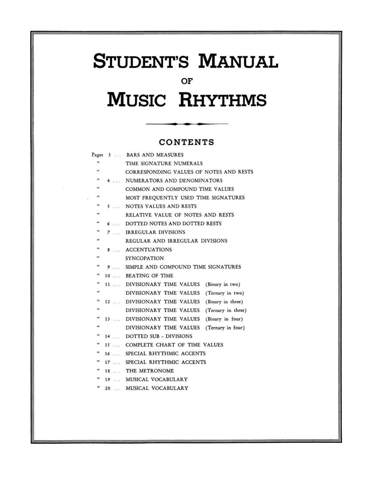 Vanasek, Student's Manual of Music Rhythms-p03