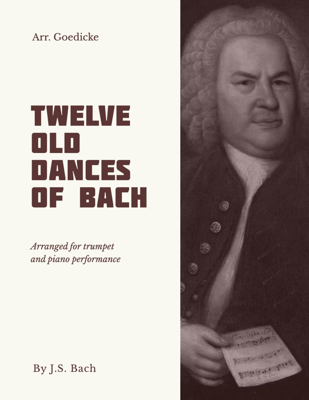 Bach-Goedicke, 12 Old Dances of Bach-p01