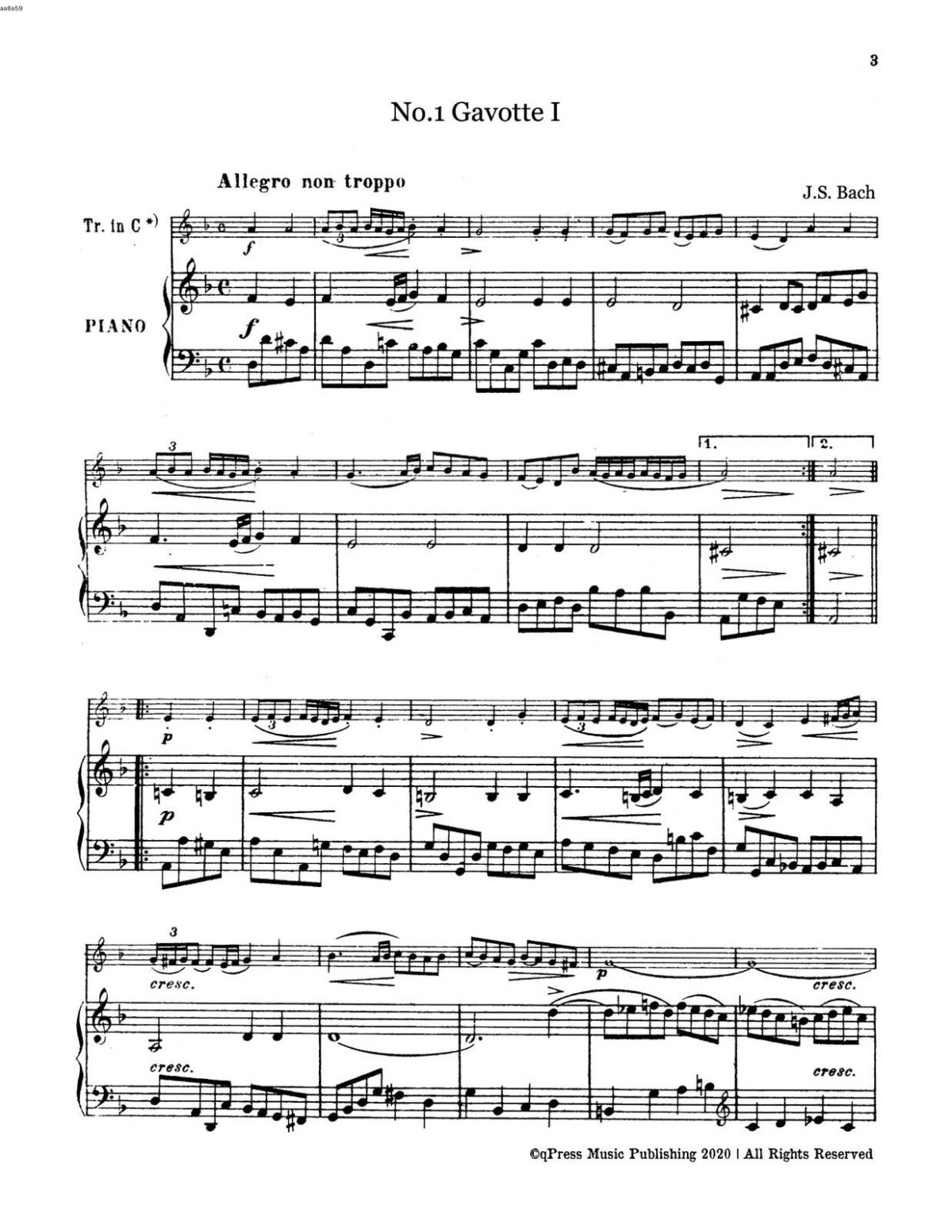 Bach-Goedicke, 12 Old Dances of Bach-p11